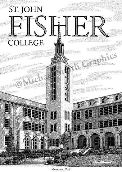 St. John Fisher College Kearney Hall art print by Michael Smith