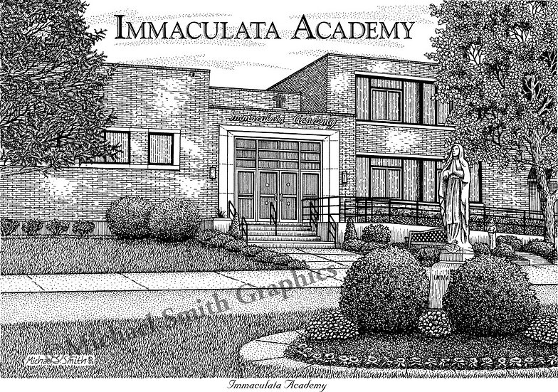 Immaculata Academy art print by Michael Smith