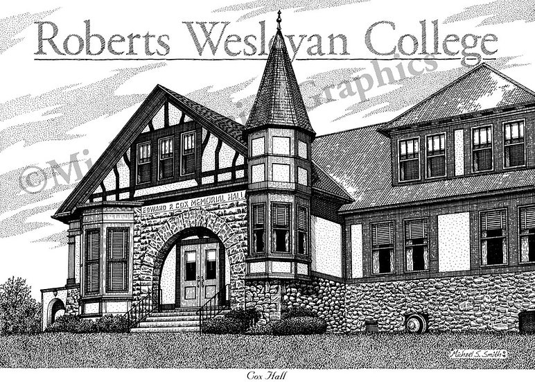 Roberts Wesleyan College art print by Michael Smith