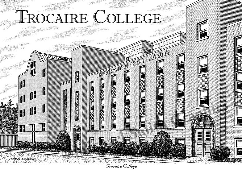 Trocaire College art print by Michael Smith