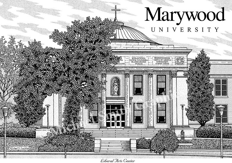 Marywood University art print by Michael Smith