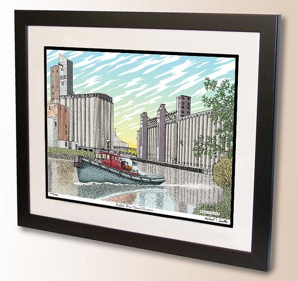 Grain Elevators Buffalo River art print by Michael Smith