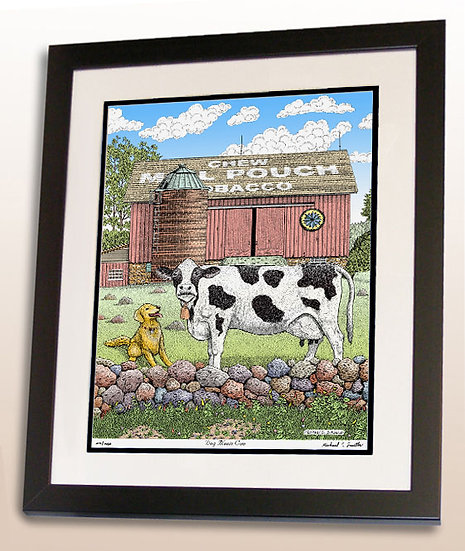 Dog Meets Cow art print by Michael Smith