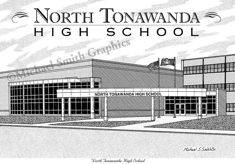 North Tonawanda High School art print by Michael Smith