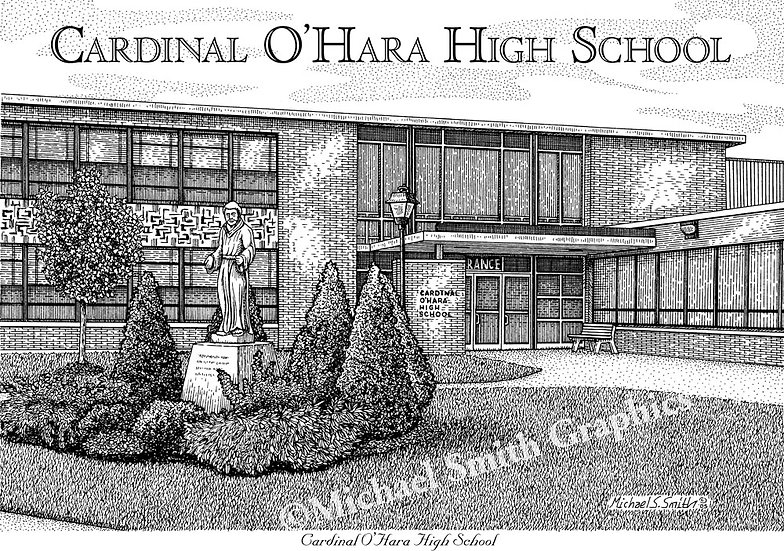 Cardinal O'Hara High School art print by Michael Smith