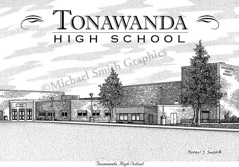 Tonawanda High School art print by Michael Smith