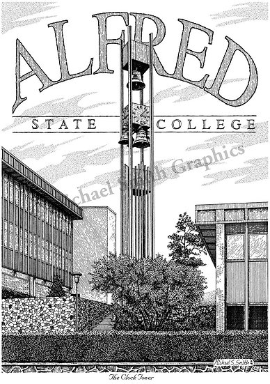 Alfred State College art print by Michael Smith
