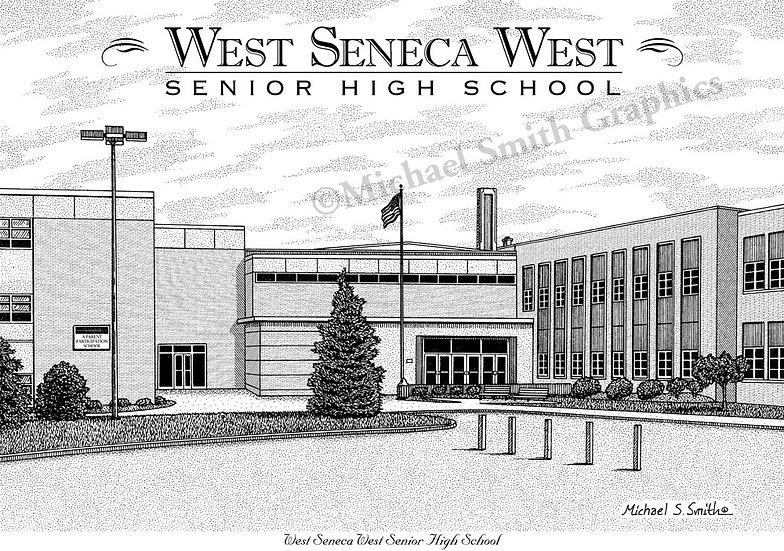 West Seneca West High School art print by Michael Smith