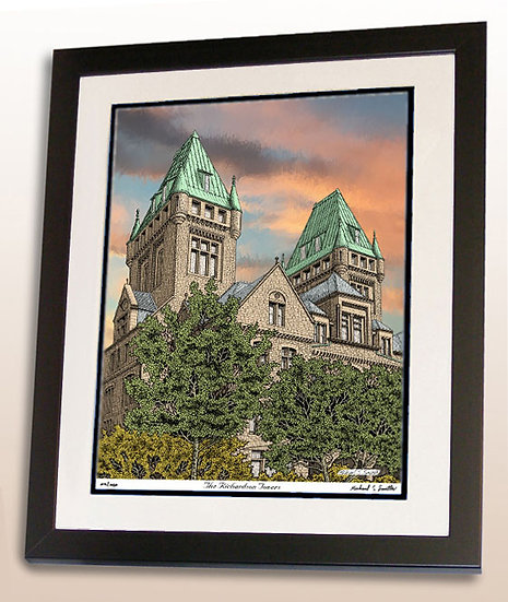 Richardson Olmsted Towers art print by Michael Smith