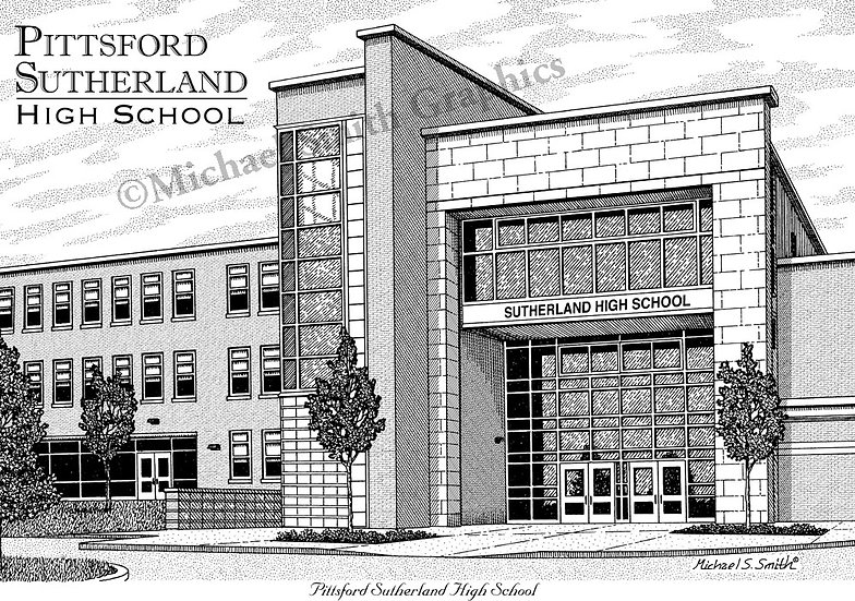 Pittsford Sutherland High School art print by Michael Smith