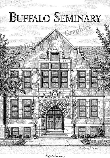 Buffalo Seminary art print by Michael Smith