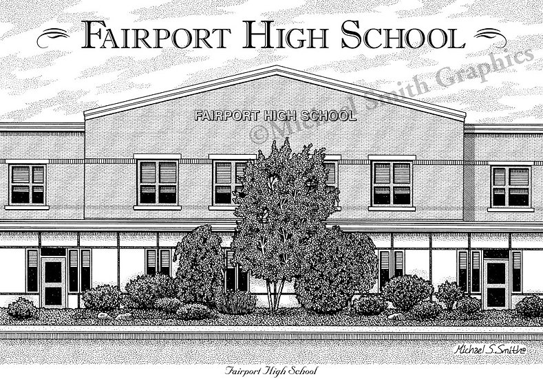 Fairport High School art print by Michael Smith