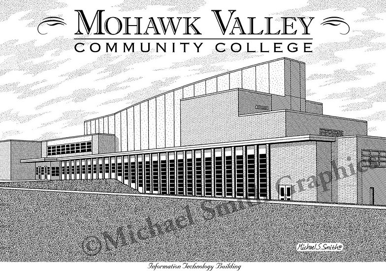 Mohawk Valley Community College art print by Michael Smith