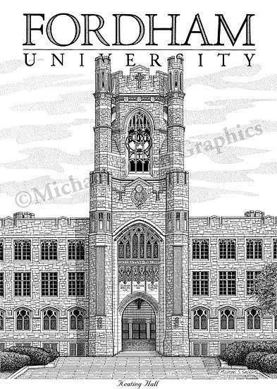 Fordham University art print by Michael Smith