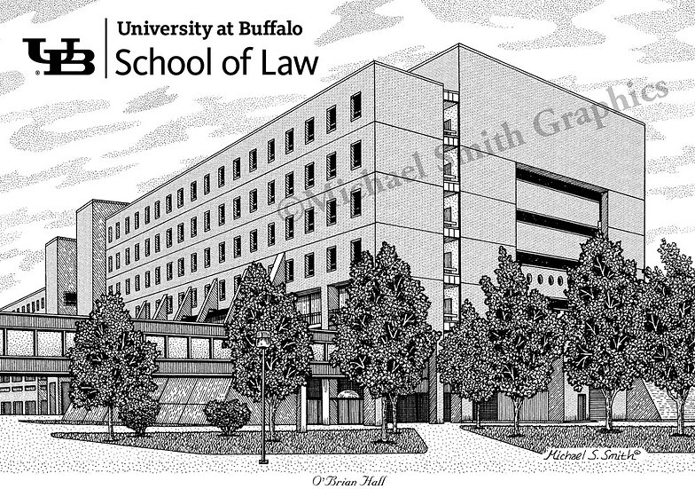 UB Law School art print by Michael Smith