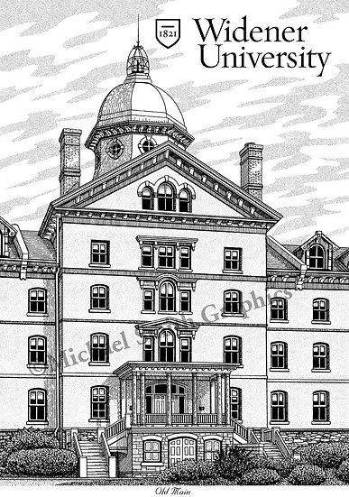 Widener University art print by Michael Smith