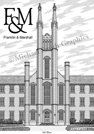 Franklin & Marshall College art print by Michael Smith