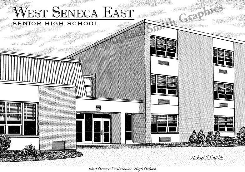 West Seneca East High School art print by Michael Smith