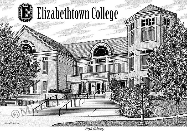 Elizabethtown College art print by Michael Smith