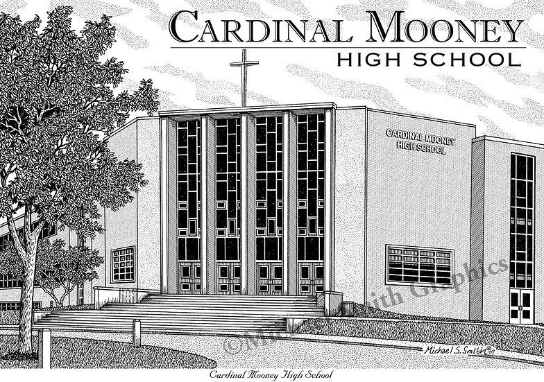 Cardinal Mooney High School art print by Michael Smith