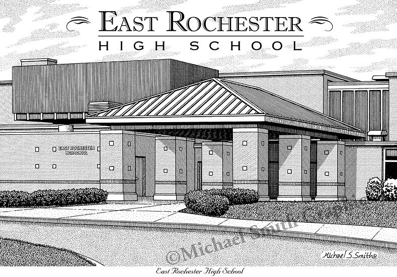 East Rochester High School art print by Michael Smith