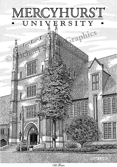 Mercyhurst University art print by Michael Smith
