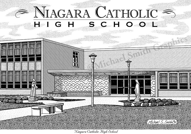 Niagara Catholic High School art print by Michael Smith