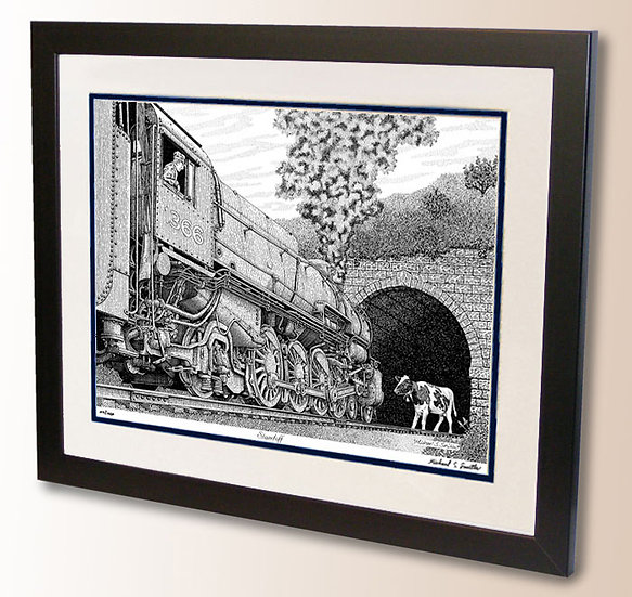 Steam train art print by Michael Smith