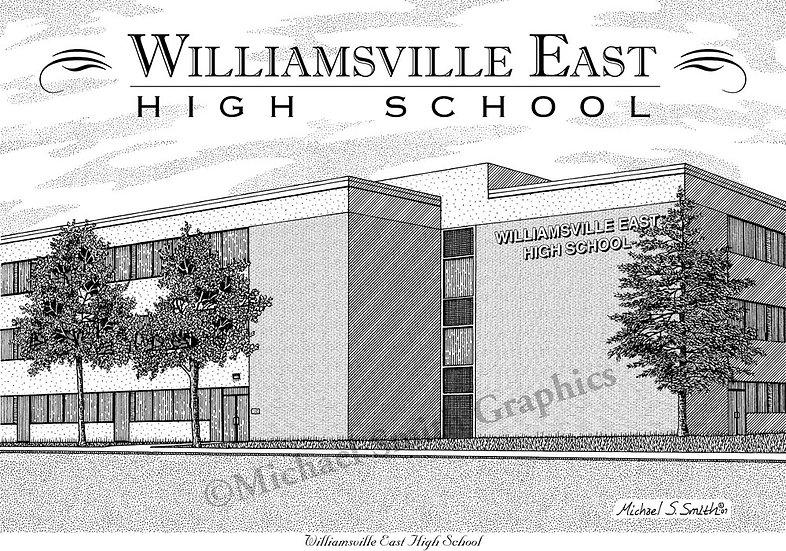 Williamsville East High School art print by Michael Smith