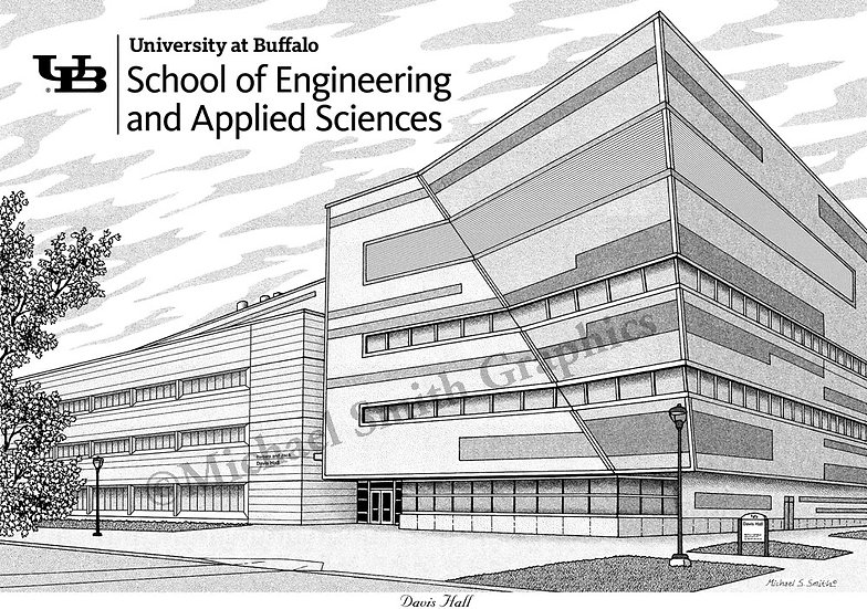 UB School of Engineering and Applied Sciences art print by Michael Smith