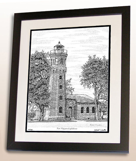 Fort Niagara Lighthouse art print by Michael Smith