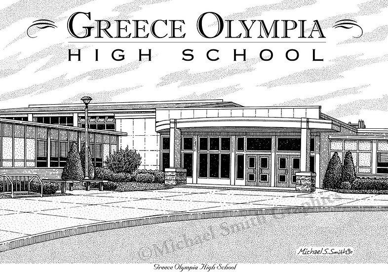 Greece Olympia High School art print by Michael Smith