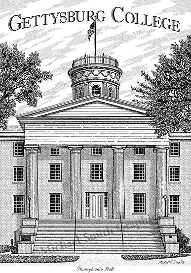 Gettysburg College art print by Michael Smith