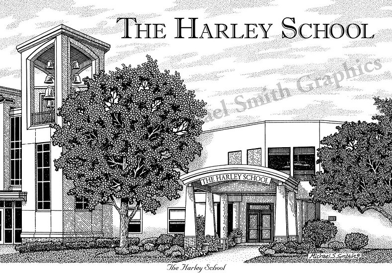 The Harley School art print by Michael Smith