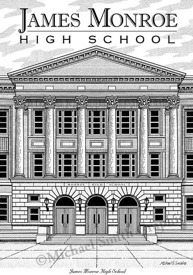James Monroe High School art print by Michael Smith