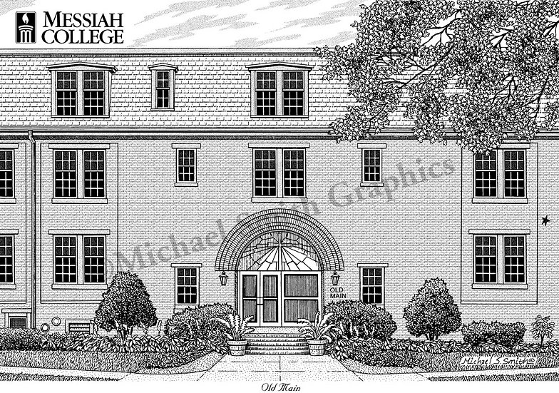 Messiah College art print by Michael Smith