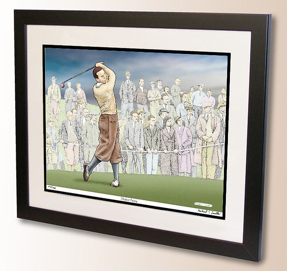 Golf wall art print by Michael Smith