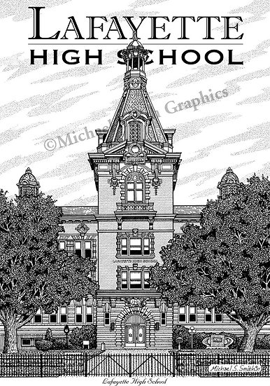 Lafayette High School art print by Michael Smith