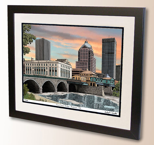 Court Street Bridge in Rochester NY art print by Michael Smith