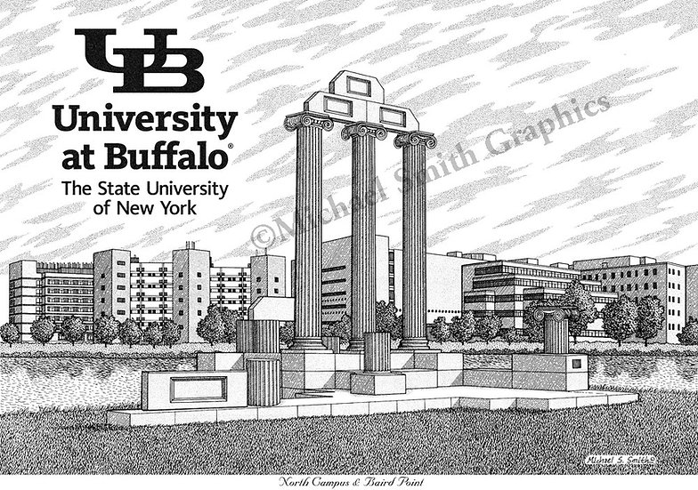 University at Buffalo North Campus art print by Michael Smith