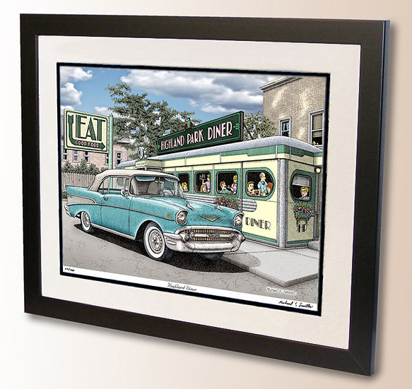 Highland Park Diner wall art print by Michael Smith