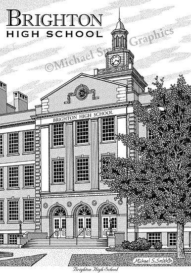 Brighton High School art print by Michael Smith