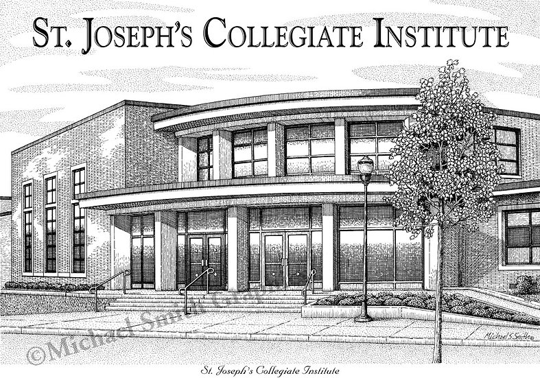 St. Josephs Collegiate Institute art print by Michael Smith