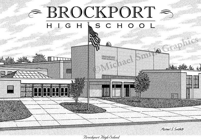 Brockport High School art print by Michael Smith
