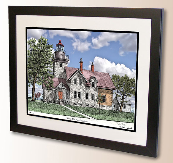 Thirty Mile Point Lighthouse art print by Michael Smith