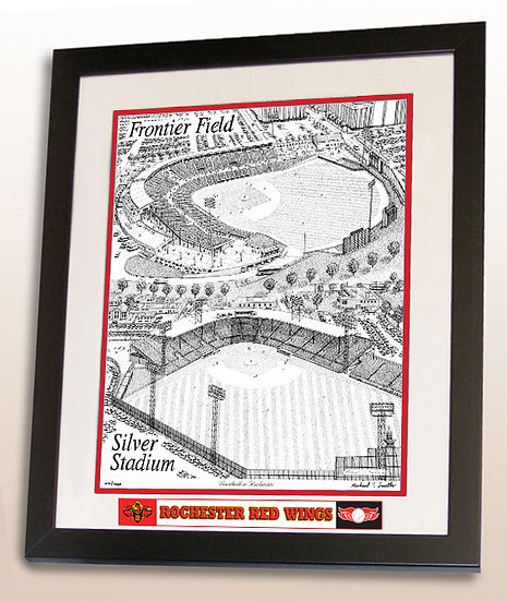 Silver Stadium/Frontier Field wall art