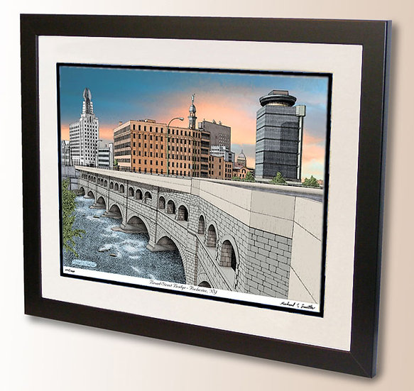 Broad Street Bridge in Rochester NY art print by Michael Smith