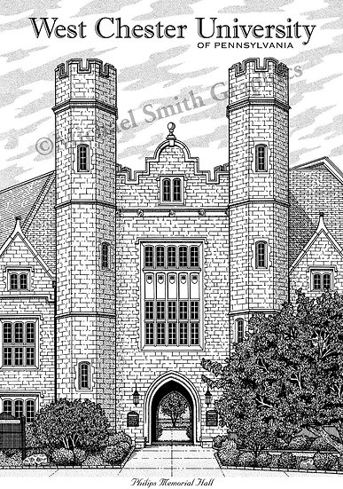 West Chester University art print by Michael Smith