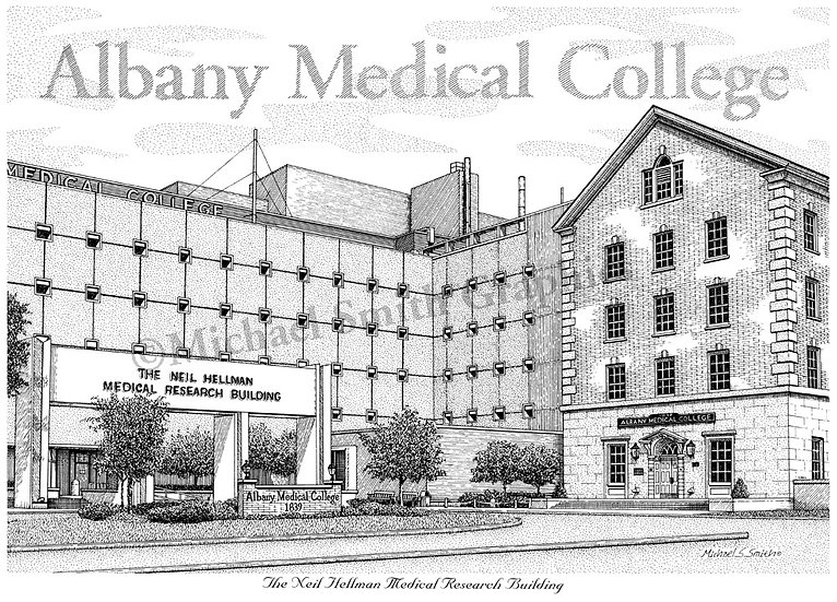 Albany Medical College art print by Michael Smith