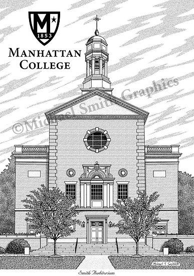 Manhattan College art print by Michael Smith